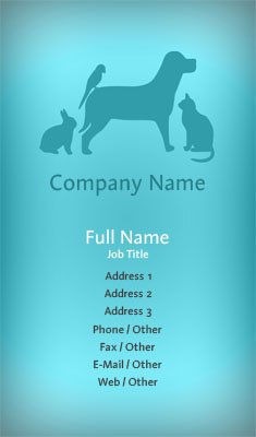Blue Animal Trainer Business Card Template